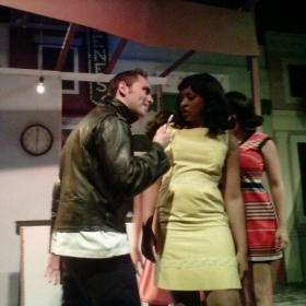"A shot from a production of ""Little Shop of Horrors"""