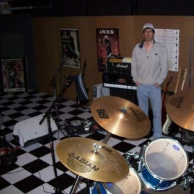 That's me in one of my favorite places. My recording studio..