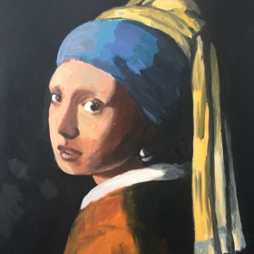 Master study of Girl with Pearl Earring (Vermeer, orig. c. 1665)