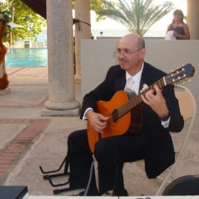 Remi performing at a Wedding
