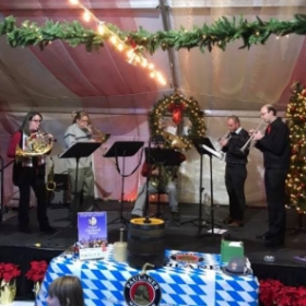 Denver Philharmonic Brass Quintet at the Denver Christkindl Market in 2017