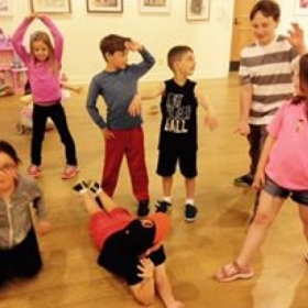 Theater class with kids at Middletown Arts Center