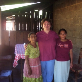 Here I am in Guatemala visiting with coffee farm workers. I was helping my nurse friend do a health clinic.