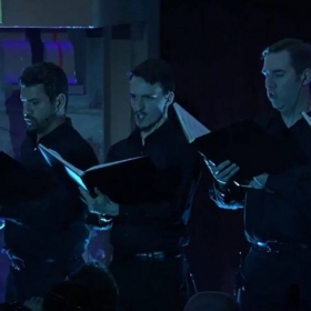 Singing with male chorus at E3 2016