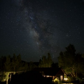 """Milky Way Over the Cabin"" A beautiful capture of our galaxy in which we reside."
