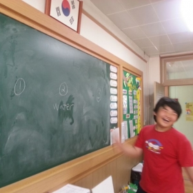 My student was having a great time during our lesson.