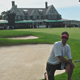 at Oakmont the day Dustin finally broke through and won a major at the US Open