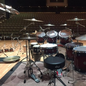 Playing a concert with my band at Gusman Concert Hall in Miami, Florida