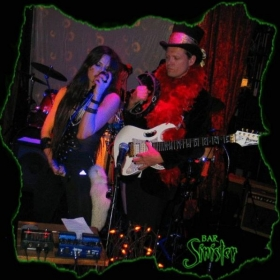 Andrew performing with Charly Gienau of the band Many of Odd Nature in Los Angeles.