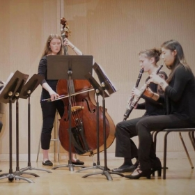 A performance of Prokofiev's Quintet.