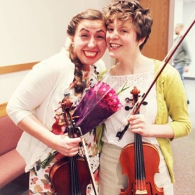 Post-recital - Lauren Esplin's final recital as an undergrad at BYU, in which we played a Beethoven duet for violin and viola.