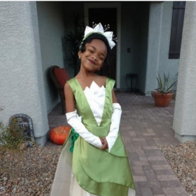 My granddaughter's princess costume.