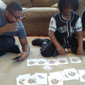 Spelling music words with monkey Music Alphabet Cards