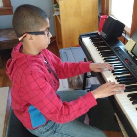 This young man is experiencing so many great aspects of how to play the piano and immersing himself into so many genres of music.