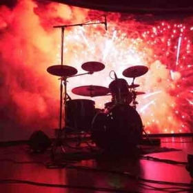Explosion stage backdrop