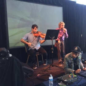 Performing viola and video game music at MAG fest
