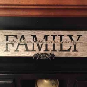 Personalized Family tile using the knockout method