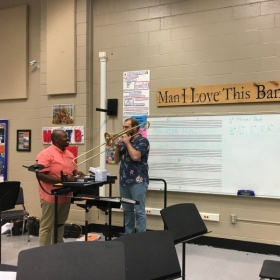 Teaching a jazz clinic at Vestavia Hills High School in Vestavia Hills, Al