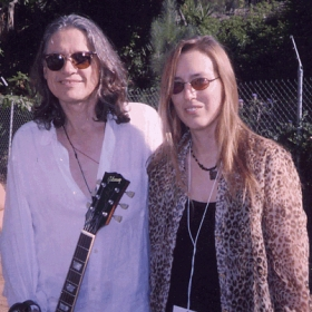 With Robben Ford, fellow performer at the Irvine Lake Blues Festival