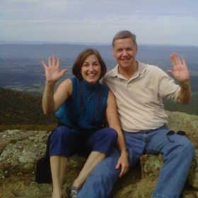 Penny and husband Ken in the Shenandoah Mountains.  We love to travel!