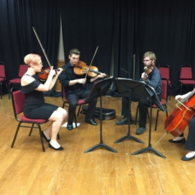 My string quartet class in concert