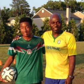 Me and Emerson (Great defender i have ever coached)