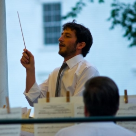 Conducting a 4th of July Concert.