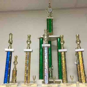 Here's just a small amount of trophies my students have won in local tournaments, over the years.  All of them first place!