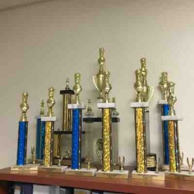 Here's just a small amount of trophies my students have won in local tournaments, over the years. Majority of them first place!
