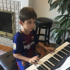 Arya is simply in love with his piano and voice lessons