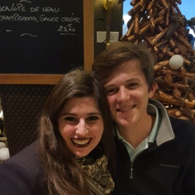My student Jack and I meeting up in Paris !
