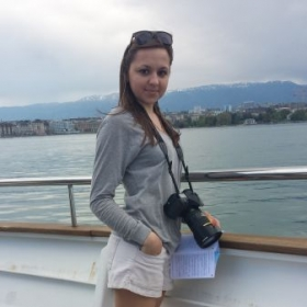 On the boat, Geneva lake, Switzerland.