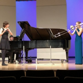 Master's Recital Duet with my wife