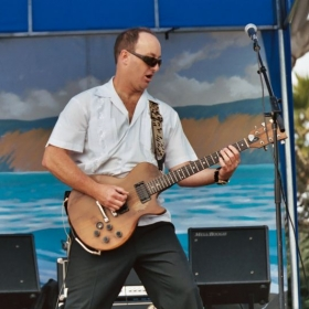 Rocking out at La Jolla Cove Park with The Mar Dels!