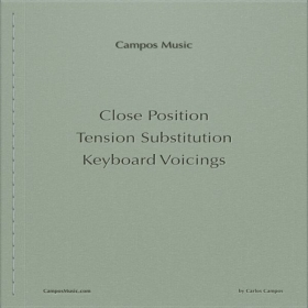 Close Position Tension Substitution Keyboard Voicings (by Carlos Campos)