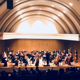 Molly Wilson playing Wieniawski's Violin Concerto No. 2 in D minor with the Bradley Symphony Orchestra
