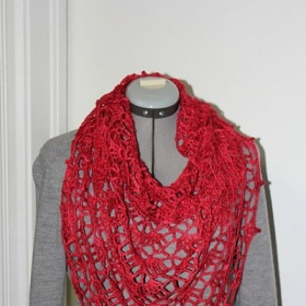 The Elise Shawl -This is a beautiful shawl and I will happy to help you make this beauty.  Techinques-lace work and how to read a chart.