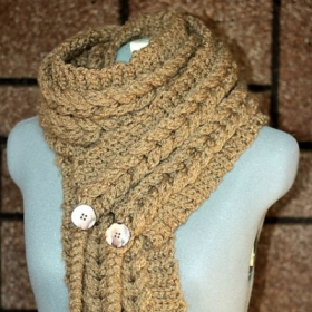 Crocheted Textured Scarf with a Knit Look-Techinque-crocheting with texture.