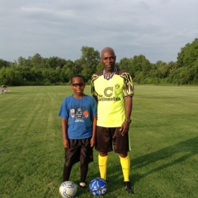 Josh and I together during training.
