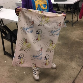 A pillow case completed by one of my students