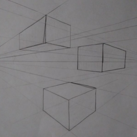 Introduction into Perspective Drawing. Learning the basics of one point and two point perspective drawing.