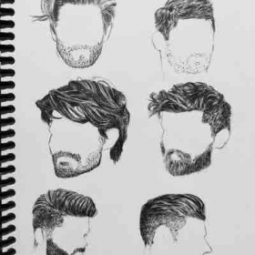 Male hair practice (pen)