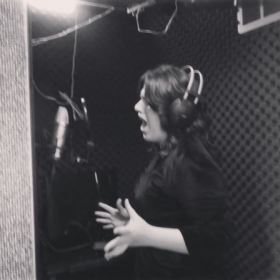 Singing in the recording studio