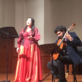 concert at USC. Vocal Chamber music.