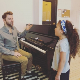 Helping Stella prepare for her school talent show!