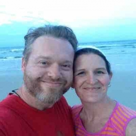 Me and my Wife Amanda at the beach.