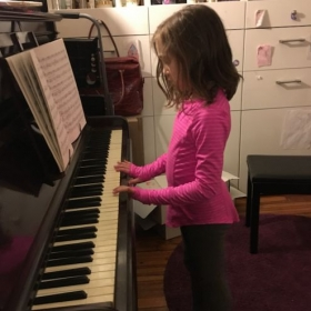 First piano lesson!