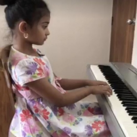 FEATURED STUDENT: This is Anna, one of my students. She is 8 years old and lives in Bangladesh.