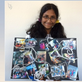 Debora's creative collage - cherished moments with dear friends.