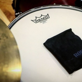 Brand New Remo Drum head used in drum head comparison video.